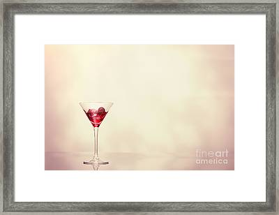 Cocktail In Art Deco Glass Framed Print by Amanda Elwell