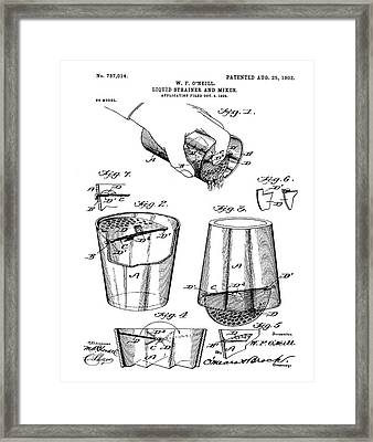 Cocktail Mixer Patent 1903  Framed Print
