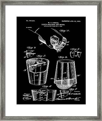 Cocktail Mixer Patent 1903 In Black Framed Print