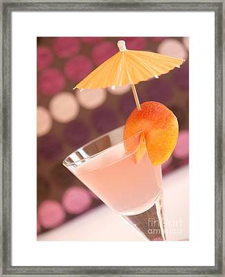 Cocktail Of Peaches Framed Print by Andreas Berheide