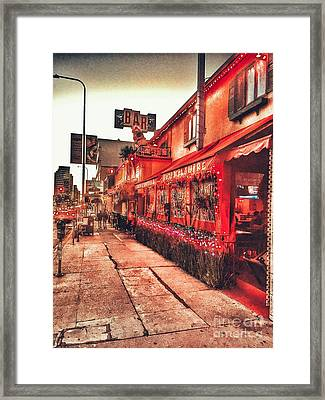 West Los Angeles Cocktail Row Framed Print