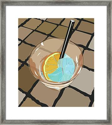 Cocktail Spritz Framed Print by Marina Usmanskaya