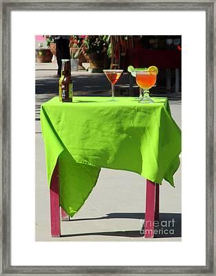 Cocktail Table Framed Print