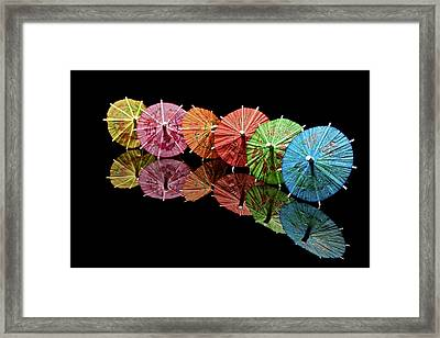 Cocktail Umbrellas IIi Framed Print by Tom Mc Nemar