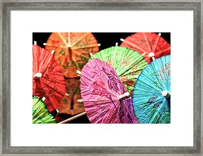 Cocktail Umbrellas Iv Framed Print by Tom Mc Nemar