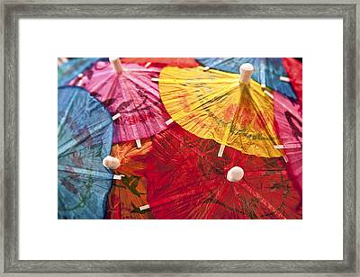 Cocktail Umbrellas V Framed Print by Tom Mc Nemar