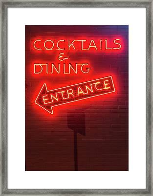 Cocktails And Dining Framed Print
