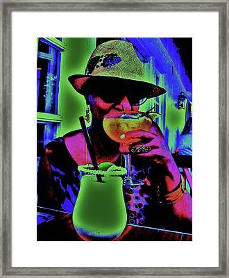 Cocktails Anyone Framed Print by Diana Dearen