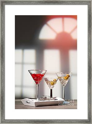Cocktails At House Party Framed Print by Amanda Elwell