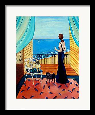Evening Gown Paintings Framed Prints