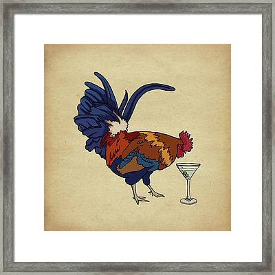 Framed Print featuring the mixed media Cocktails by Meg Shearer