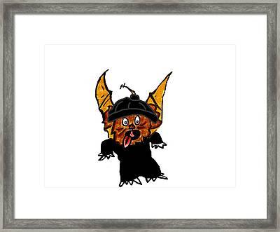 Coco As Thief Framed Print by Jera Sky