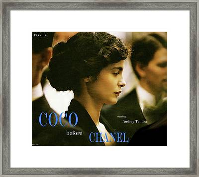 Coco Before Chanel, Starring Audrey Tautou, Coco Chanel Framed Print