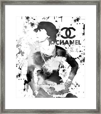 Coco Chanel Grunge Framed Print by Dan Sproul