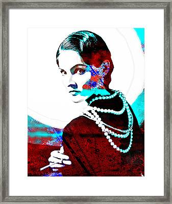 Coco Chanel Hommage Framed Print by Vel Verrept
