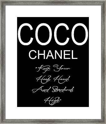 Coco Chanel Quote 2 Framed Print