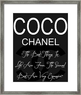 Coco Chanel Quote 3 Framed Print