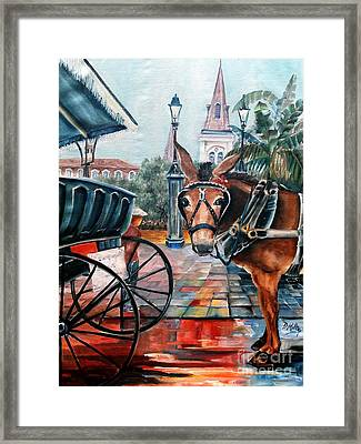 Coco In The Quarter Framed Print by Diane Millsap