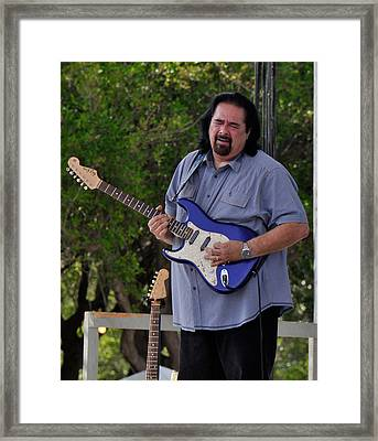 Coco Montoya And His Ocean Blue Fender American Standard Stratoc Framed Print