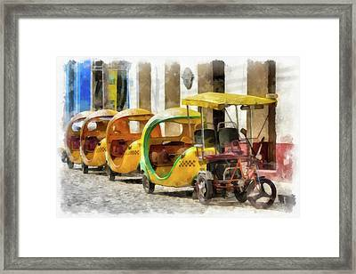 Coco Parking Framed Print