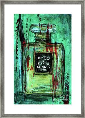 Framed Print featuring the painting Coco Potion by P J Lewis