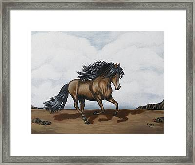 Framed Print featuring the painting Coco by Teresa Wing