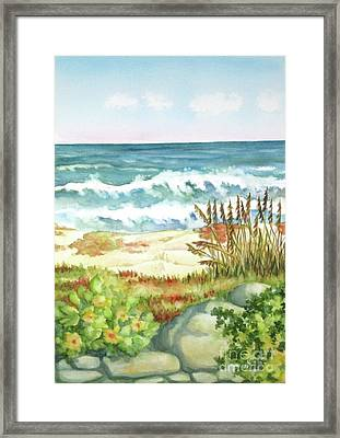 Framed Print featuring the painting Cocoa Beach Afternoon by Inese Poga