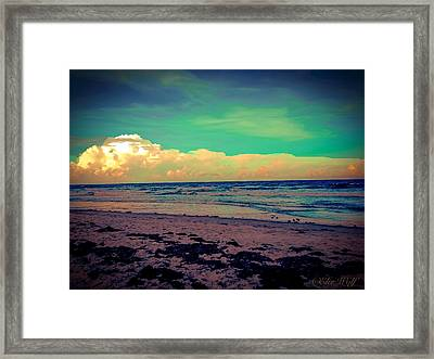Cocoa Beach At Dusk Framed Print