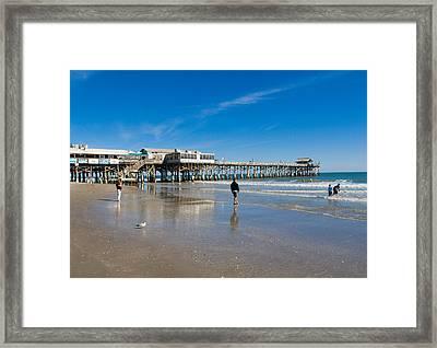 Cocoa Beach Florida Framed Print by Allan  Hughes