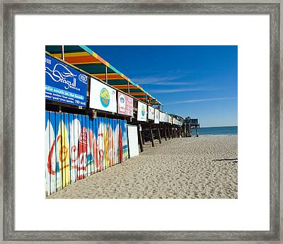 Cocoa Beach Flotida Framed Print by Allan  Hughes