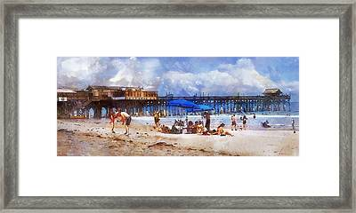 Cocoa Beach Pier Framed Print by Francesa Miller