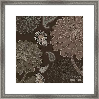 Cocoa Paisley IIi Framed Print by Mindy Sommers