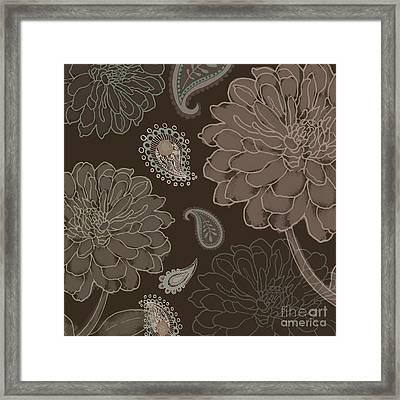 Cocoa Paisley IIi Framed Print