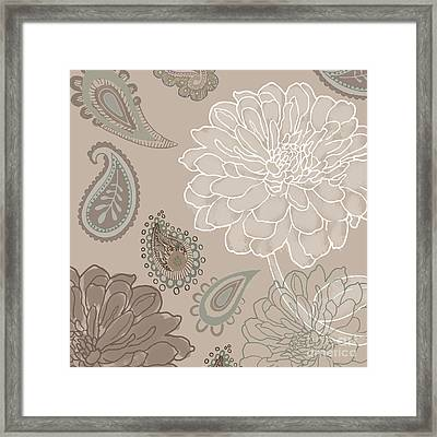 Cocoa Paisley V Framed Print by Mindy Sommers