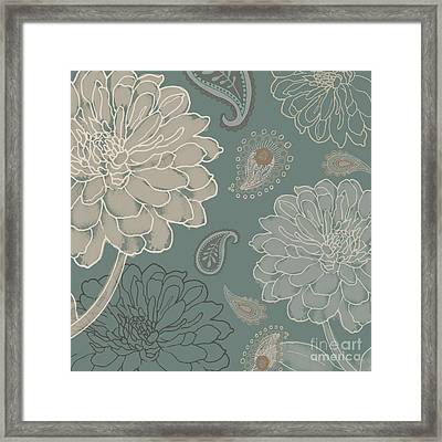 Cocoa Paisley Vi Framed Print by Mindy Sommers