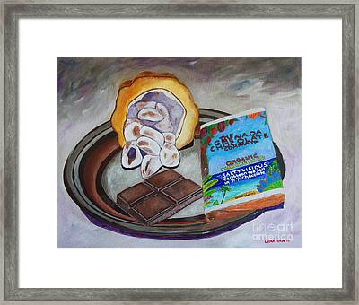 Cocoa Pod To Chocolate Bar Framed Print