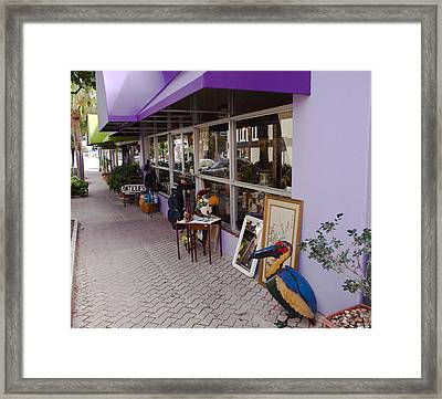Cocoa Village In Florida Framed Print by Allan  Hughes