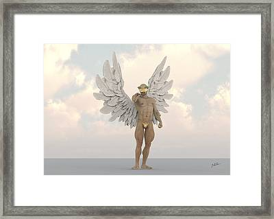 Coconut Angel Framed Print
