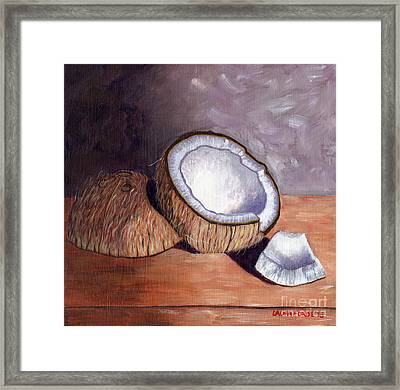 Coconut Anyone? Framed Print