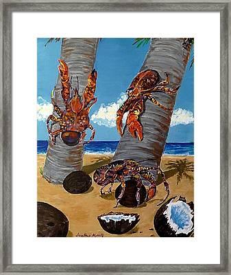 Coconut Crab Cluster Framed Print