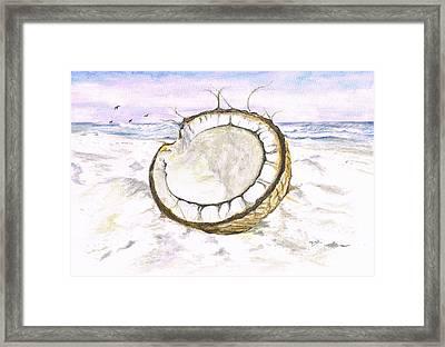 Coconut Island Framed Print