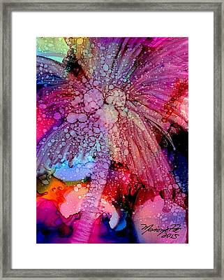 Framed Print featuring the painting Coconut Palm Tree 4 by Marionette Taboniar
