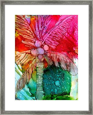 Framed Print featuring the painting Coconut Palm Tree by Marionette Taboniar