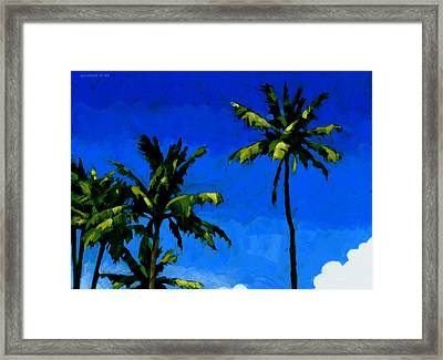 Coconut Palms 5 Framed Print by Douglas Simonson