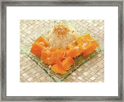 Coconut Sweet Rice With Hawaiian Mango Framed Print