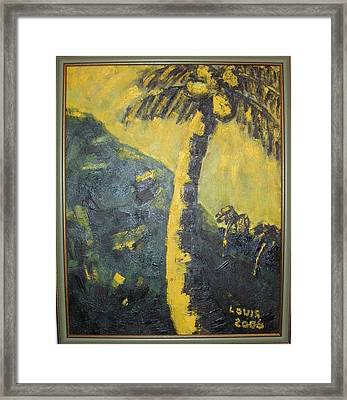 Coconut Tree Framed Print by Louis  Stephenson