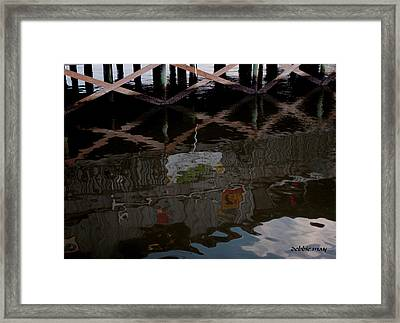 Coconuts Wharf-picasso Style Framed Print by Debbie May