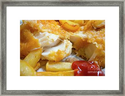 Cod Chips And Ketchup  Framed Print