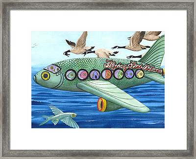 Cod Is My Co-pilot Framed Print
