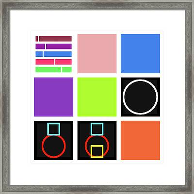 Code Mix -24 Framed Print
